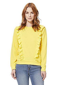 JDY Frill Trim Sweatshirt - Yellow