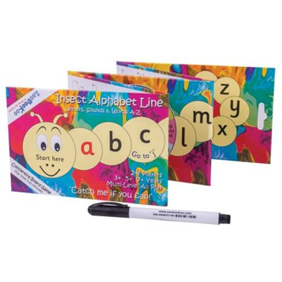 ZooBooKoo Insect Alphabet Line - Educational Phonics, Reading and Spelling Game