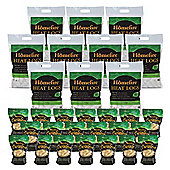 10 x 10kg Bags of Homefire Heat Logs and 20 Packs of Twizler Firelighters