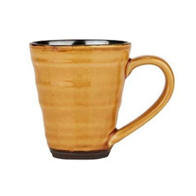 Bahne Coffee or Tea Mug Handmade Mustard Yellow Birch