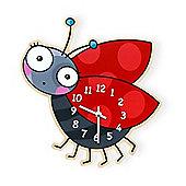 Barnabou Serie Golo Childs Kids Wall Clock Horloge Coccinelle Ladybird HOR001