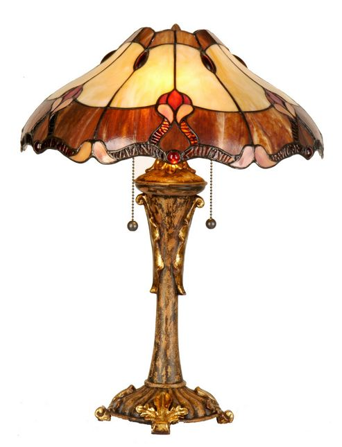 Arcade 35cm Tiffany Two Light Table Lamp