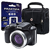 Kodak Pix Pro AZ421 Bridge Camera Kit with 16GB SDHC Card & Case