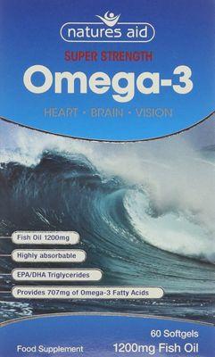 Natures Aid Super Strength Omega-3 - 60 Capsules
