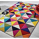 Spectrum, Samba Multi Coloured Rug - 80 x 150 cm