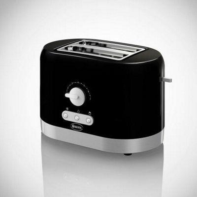 Swan ST10020BLKN2 2 Slice Black Toaster