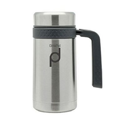 Grunwerg Drinkpod Stainless Steel Vacuum Mug 450ml in Stainless Steel HBG450SS
