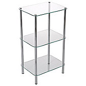 Stockholm 3-Tier Display Glass Rack - Clear