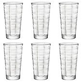 Bormioli Rocco Cube Clear Highball Cocktail Glasses - 365ml - Pack of 6