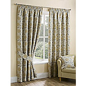 "Palea Ochre Pencil Pleat Curtains - 44x54""/112x137cm"