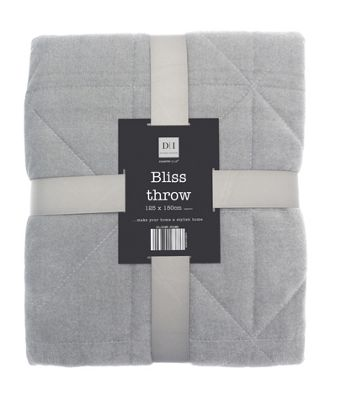 Country Club Bliss Throw Grey 125 x 150cm