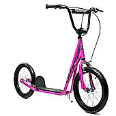 """Limited Edition 1080 Adult Teen Pink 16"""" Wheel Push BMX Style Scooter"""