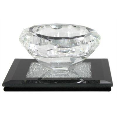 Diamond Crush Black Small Tealight Holder