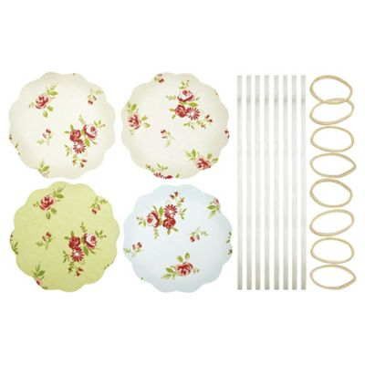 KitchenCraft Jam Making/Preserving Fabric Lid Cover Set - Pack of eight