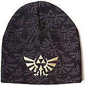 Zelda Nintendo Triforce Logo Beanie (Black) - Accessories