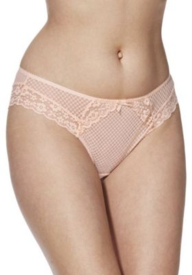 F&F Tamara Lace Brazilian Briefs Peach 14