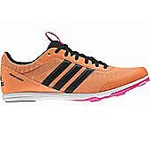 adidas Distancestar Womens Running Spike Trainer Shoe Orange - UK 8.5