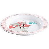 Badabulle Microwaveable Plate (Pink Raccoon)