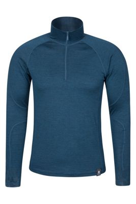 Mountain Warehouse Asgard Mens Merino Zip Neck Top ( Size: M )