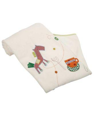 Mamas & Papas - Embroidered Fleece Blanket- Gingerbread