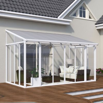 Palram SanRemo 3x4.25 White Lean To Conservatory