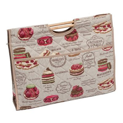 Hobby Gift Knit Craft Bag Patisserie on Khaki
