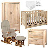 Tutti Bambini Milan 5 Piece Room Set - Reclaimed Oak