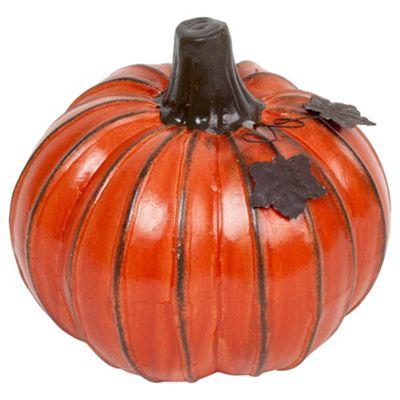 Large Orange 17cm Ceramic Pumpkin Ornament