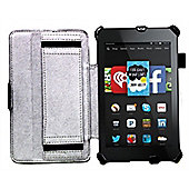 Navitech Black Book Style Case / Cover with Stand for the Kindle Fire HD 6 6 inch