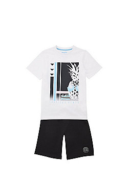 F&F Tropical Vibes T-Shirt and Shorts Set - Multi