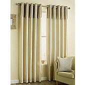Clave Velvet - Ivory - Eyelet Curtains - Ivory