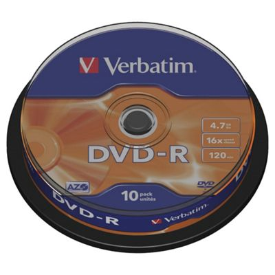 Verbatim DVD-R 4.7GB 16X Matt Silver Spindle 10 Pack