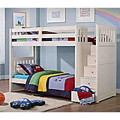 Neutron Bunk Bed With Stair Storage - White