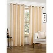 Hamilton McBride Faux Silk Lined Eyelet Cream Curtains - 46x90 Inches (117x229cm)