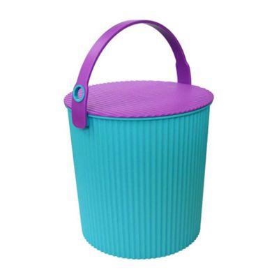 Hachiman Omnioutil Storage Bucket & Lid Small Blue Purple
