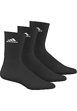 adidas Performance Crew Half Cushioned Sport Socks 3 pack - Black