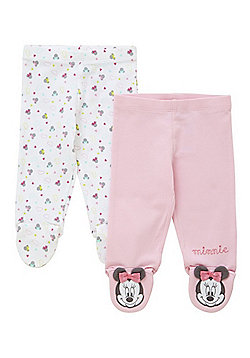 Disney 2 Pack of Minnie Mouse Footed Leggings - Multi