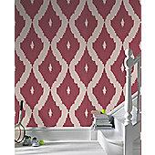 Graham & Brown Ikat Wallpaper - Red
