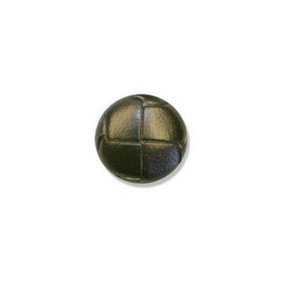 Hemline Black Leather Buttons 20mm 2pk