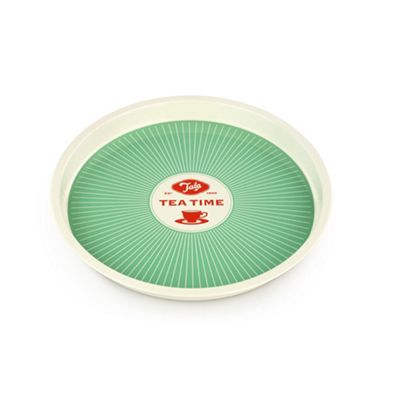 Tala Originals Starburst Tea Tray, Food & Drink Serving Plate (Green)