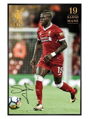 Liverpool FC Gloss Black Framed Mane 17-18 Poster 61x91.5cm