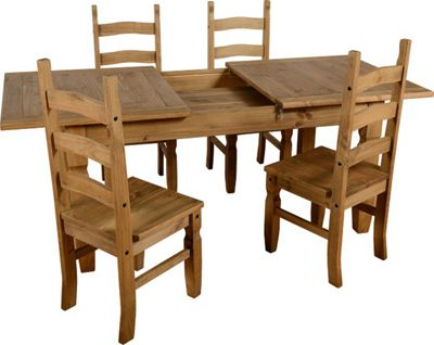 Corona Extending Dining Set 1 4 With Chairs