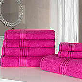 Dreamscene Luxury Egyptian Cotton 7 Piece Towel Bale Set - Fuchsia