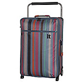 IT Luggage World's Lightest 2-Wheel Medium Teal Stripe Suitcase