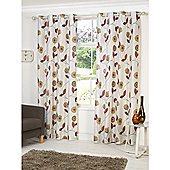 Hamilton McBride Dandelion Lined Eyelet Curtains - Orange