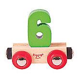 Bigjigs Rail Rail Name Number 6 (Green)