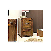 Baumhaus Shiro Two Drawer Filing Cabinet in Walnut