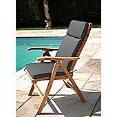 Reclining Chair Garden Cushion Dove Grey