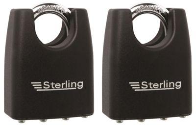 Sterling Laminated Closed Shackle Steel Padlock - 55mm Pack of 3