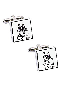 Perfect Day Father of The Groom Wedding Cufflinks